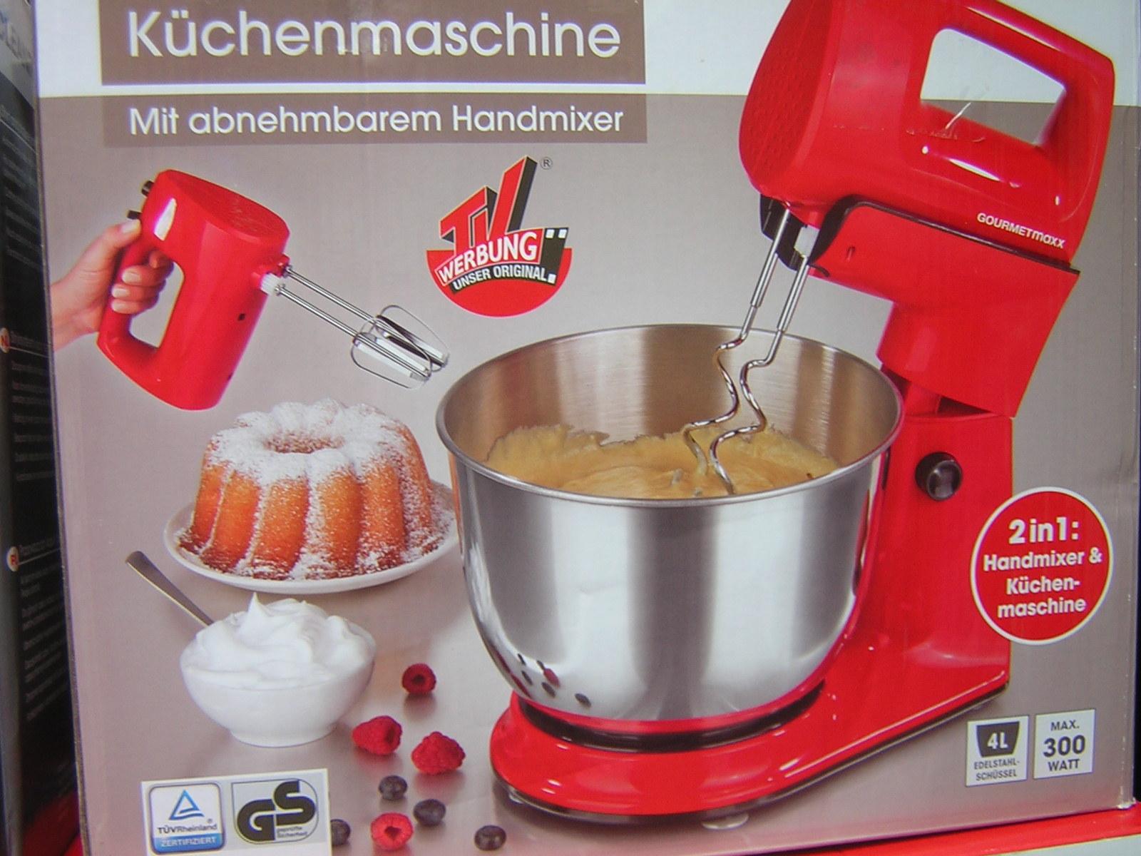 Shop24 Intervers Gourmetmaxx Kuchenmaschine 2in1